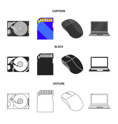 Computer mouse laptop and other equipment vector