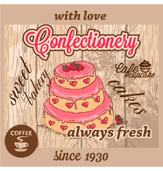 confectionery dessert menu vector image