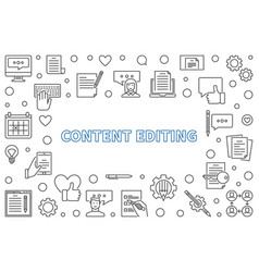 Content editing outline horizontal frame vector