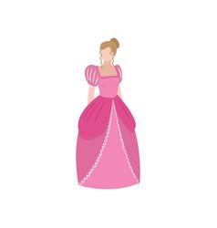 cute elegant medieval princess blonde hair girl vector image