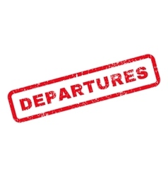 Departures Text Rubber Stamp vector