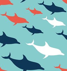 Dolphin seamless pattern background vector image