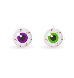 Eyeballs with bloody veins vector