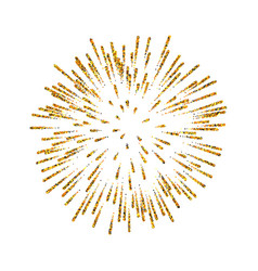 firework gold isolated beautiful golden salute on vector image