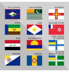 Flags world flat set number 17 vector