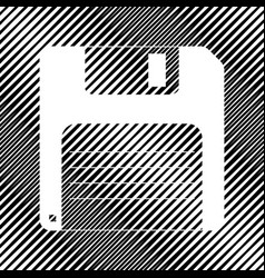 Floppy disk sign icon hole in moire vector