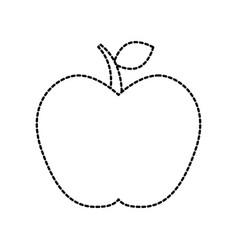 fresh fruit apple food healthy menu vector image