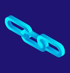 futuristic chain icon isometric style vector image