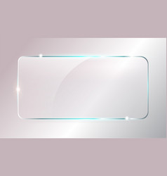 Glass plate mockup vector