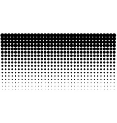 gradient halftone dots horizontal background vector image