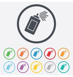 Graffiti spray can sign icon Aerosol paint vector image