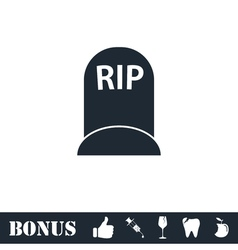 Grave icon flat vector