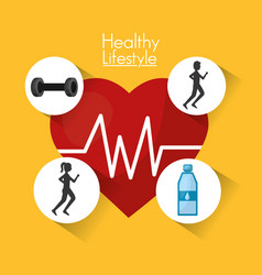 Healthy lifestyle sport food vector