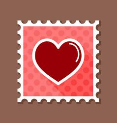 heart stamp love symbol valentine day vector image