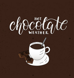 Hot chocolate weather vector