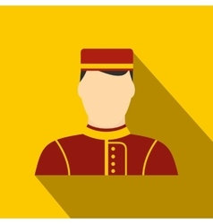 Hotel bellman flat icon vector