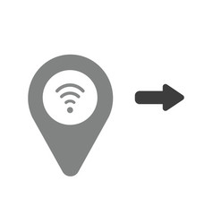 icon concept of map pointer with wireless wifi vector image