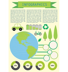 Infochart showing the planet Earth vector image