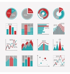 Infographic elements for business report vector