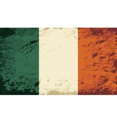 Irish flag Grunge background vector