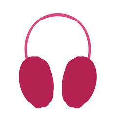 Isolated winter headphones vector