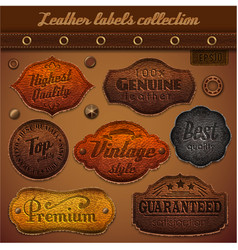 Leather labels collection - eps10 vector