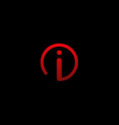 letter i circle innovation creative modern logo vector image