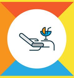 lounge icon colored line symbol premium quality vector image