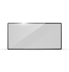 modern realistic widescreen tv television set vector image
