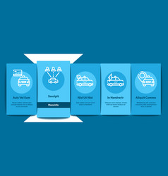 online taxi onboarding elements icons set vector image