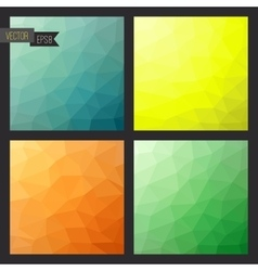 Pattern of geometric shapes collection vector image