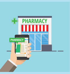 Pharmacy location sign vector