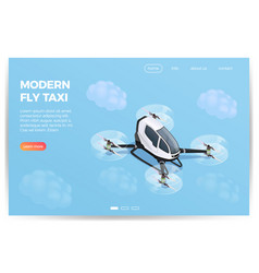 quadrocopter transportation isometric design vector image