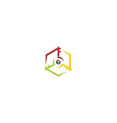 recycle icon key logo vector image