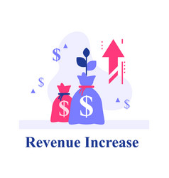 Return on investment financial plan and strategy vector