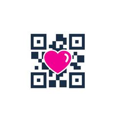 romance barcode logo icon design vector image