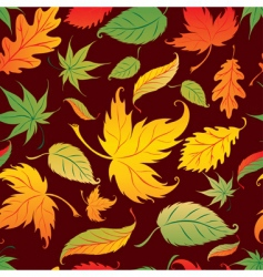 seamless background with colorful autu vector image