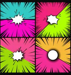 Set comic style backgrounds versus style pop vector