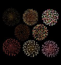 set fireworks vector image