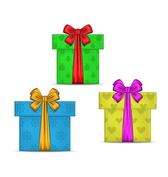 Set gift boxes isolated vector