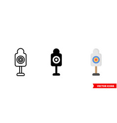 shooting target icon 3 types isolated vector image