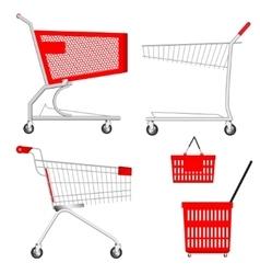 Shopping Cart and Basket vector image