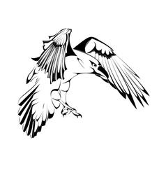 Sketch of Crow in vector