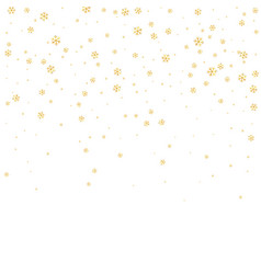 snowflake background white gold vector image