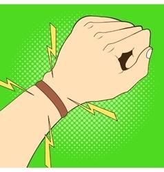 Sports strap gps navigation on hand vector
