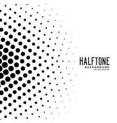 Stylish circle haltone shape background vector