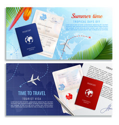 time to travel realistic banners vector image
