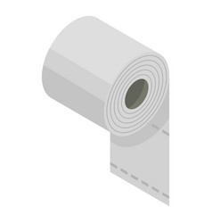 toilet paper icon isometric style vector image