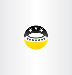 ufo star night sky icon vector image