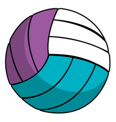 volleyball balloon isolated icon vector image